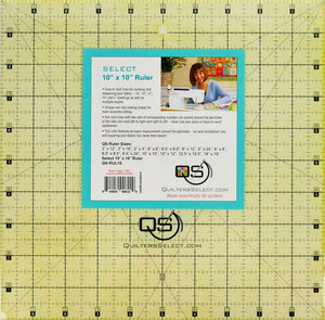 "Quilters Select Ruler 10"" x 10"""