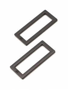"Rectangle Ring 1.5""  Black Set of 2"