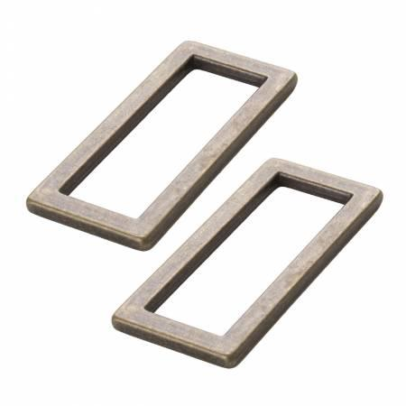Rectangle Ring Flat 1-1/2in Antique Brass