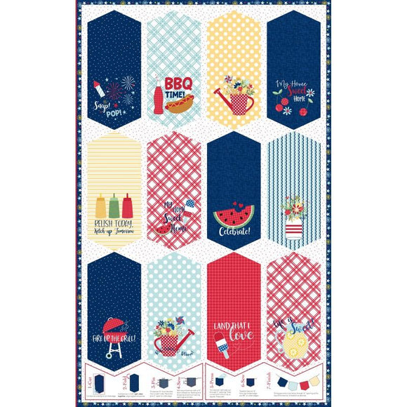Red, White & Bloom Pennant Panel