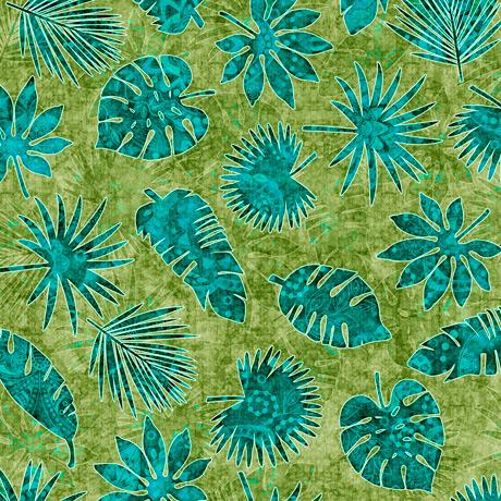 Serengeti Palm Leaves Green