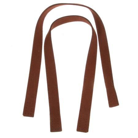 Suedette 20in Bag Handles With Attachments Brown