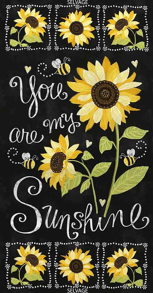 Sunflower Chalkboard Panel