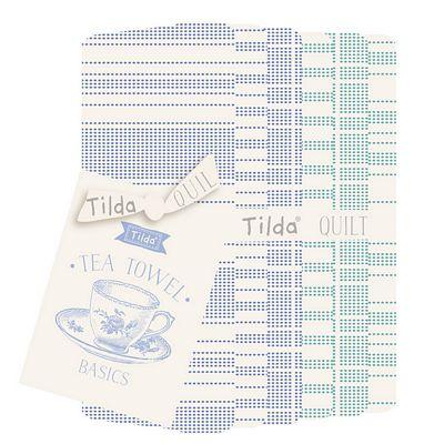 Tea Towel Basics FQB Blue/Teal