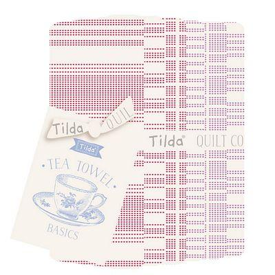 Tea Towel Basics FQB Red/Plum