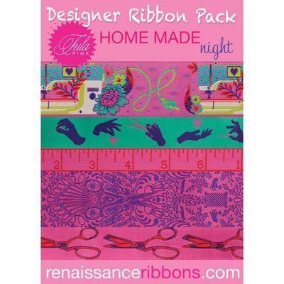 Tula Pink Ribbon Night