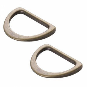 "byAnnie Flat 1"" D Rings Antique Brass"