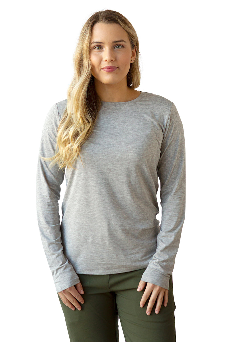 Women's Bamboo Cotton Long-Sleeve Tee - BauBax