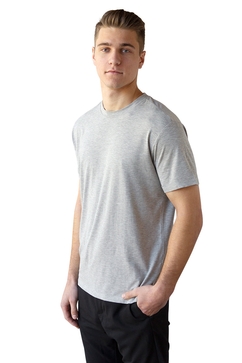 Men's Bamboo Cotton Short-Sleeve Tee - BauBax