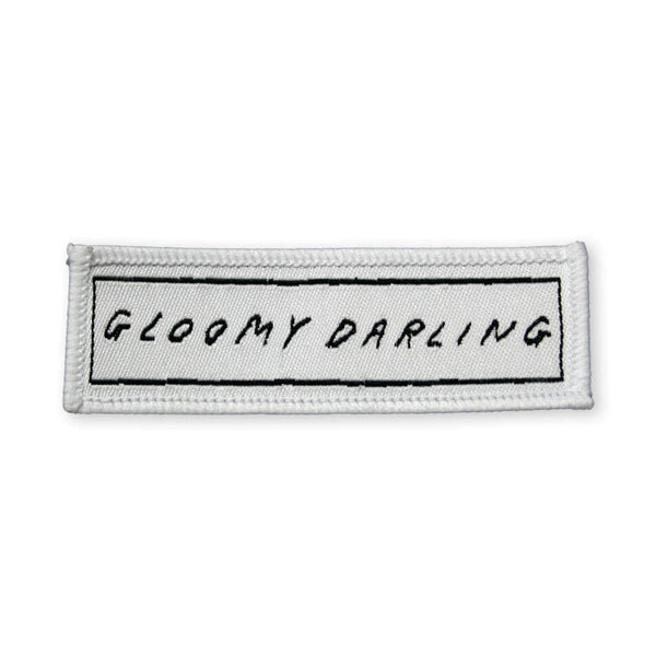 GLOOMY DARLING WHITE WOVEN PATCH