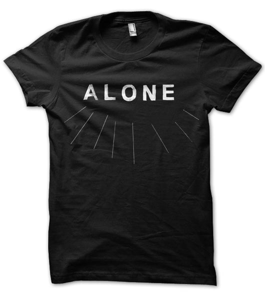 ALONE BLACK T-SHIRT