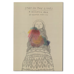'STAY IN THE LINES' COLOURING PRINT SET