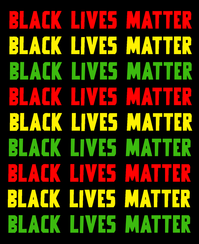 Black Lives Matter Reggae Coloured Sign
