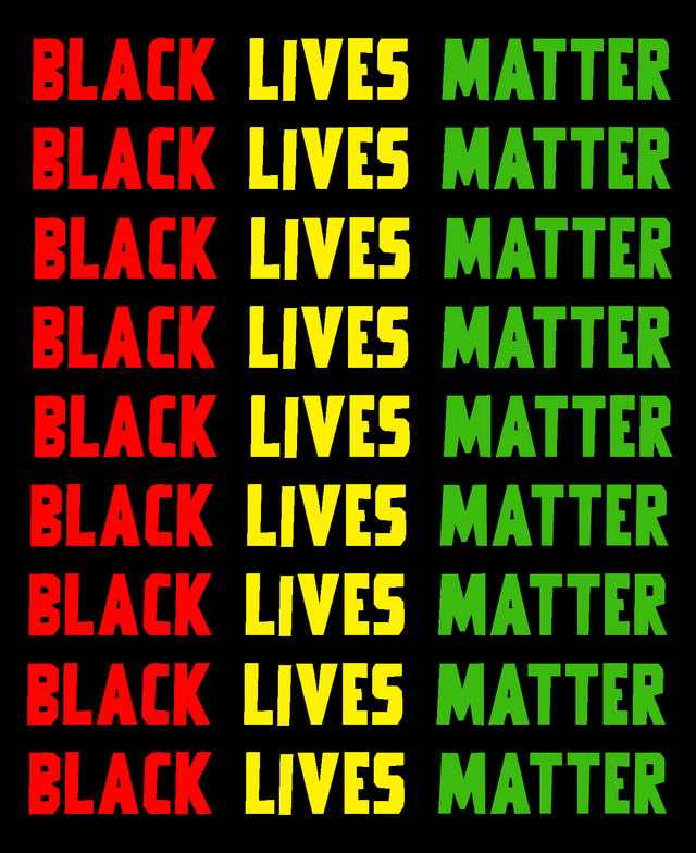 Black Lives Matter Reggae Coloured Sign (Columns)