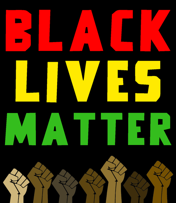 Black Lives Matter Sign (Coloured)