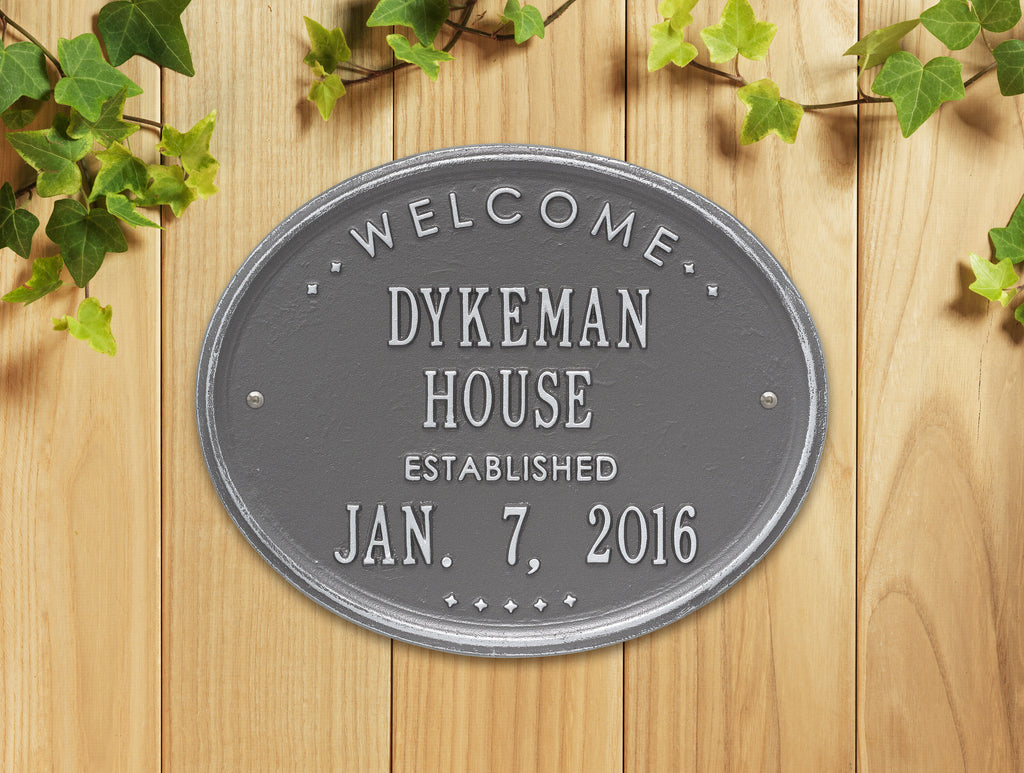 "Welcome Oval ""House"" Plaque"