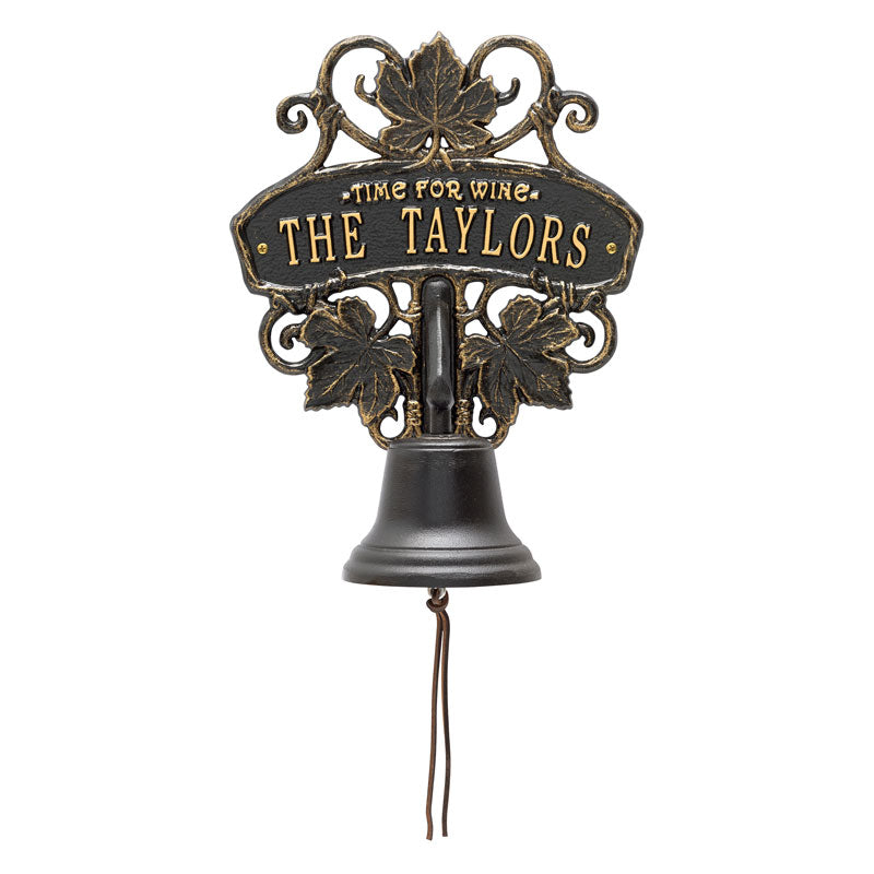 Tuscany Personalized Wine Bell