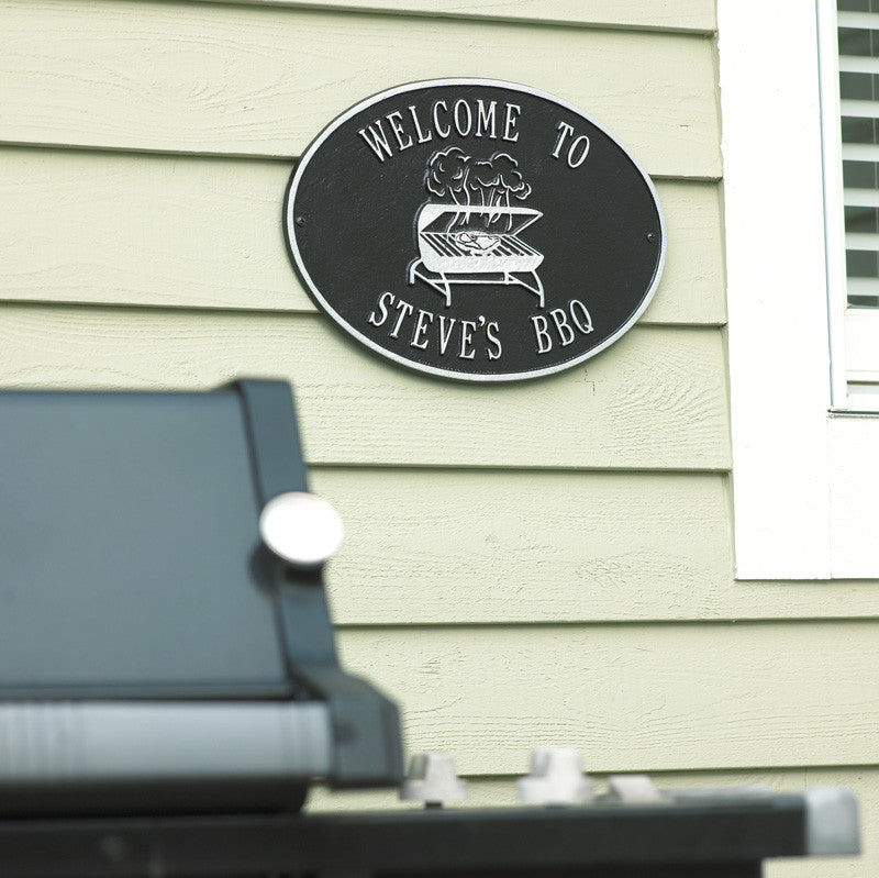 BBQ Grill Wall Plaque