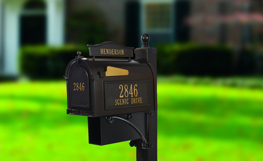 Custom Whitehall Capitol Residential Mailbox With Post
