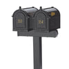 Custom Whitehall Double Door Mailbox Package