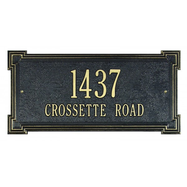Crossette Wall Address Plaque