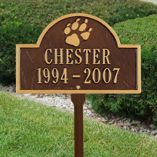 Pet Paw Arch Memorial Marker