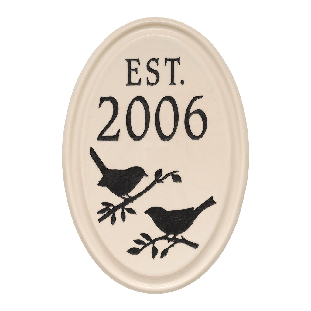 Ceramic Bird Established Wall Plaque