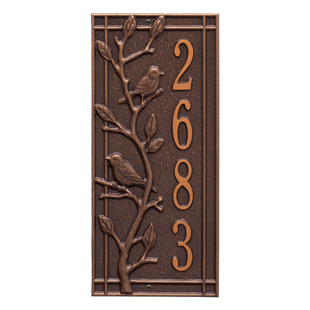 Woodridge Vertical Wall Address Plaque