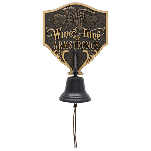 Wine Time Personalized Bell