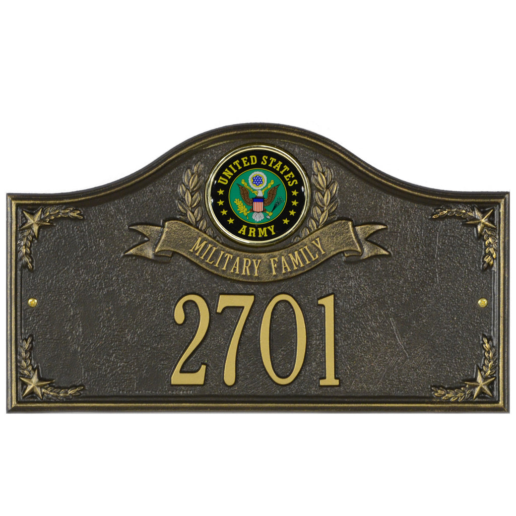 Army Gifts: Military Family Personalized Plaque