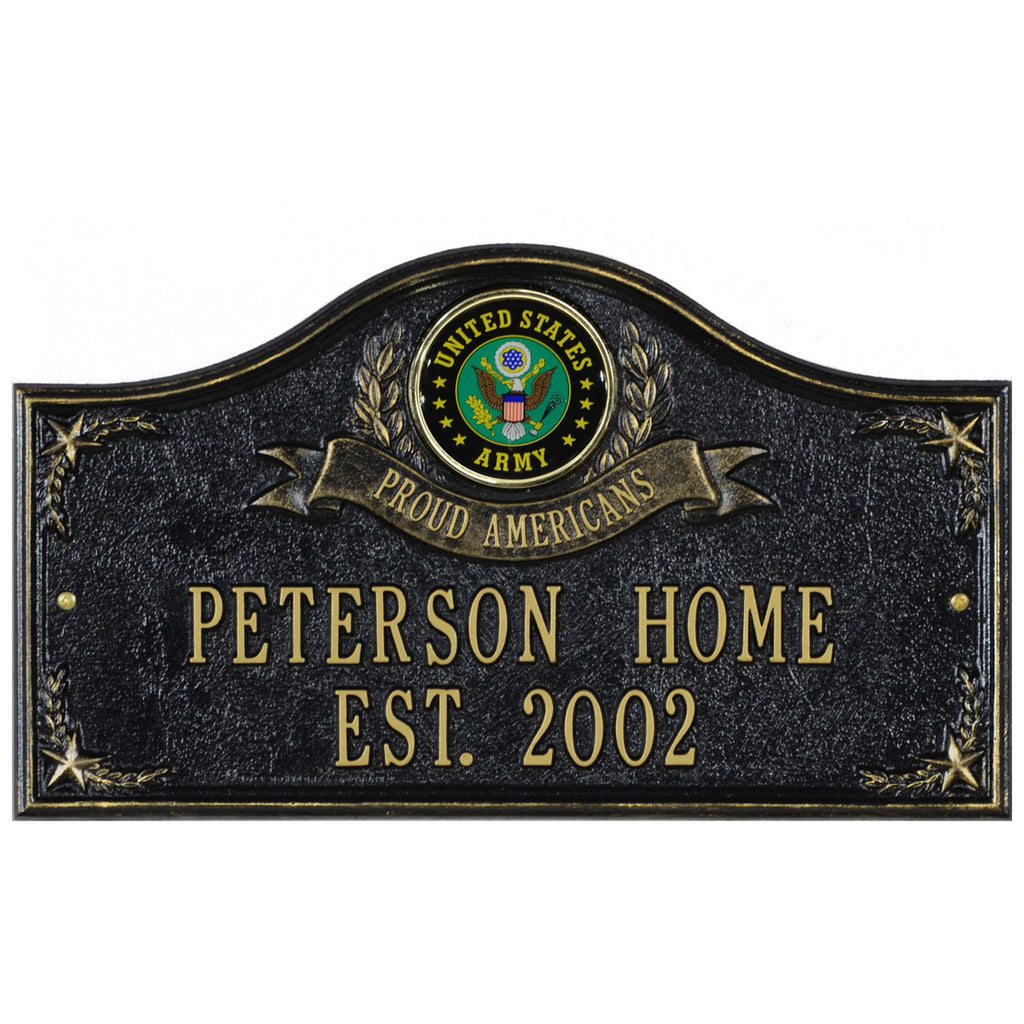 Army Gifts: Proud Americans Personalized Plaque