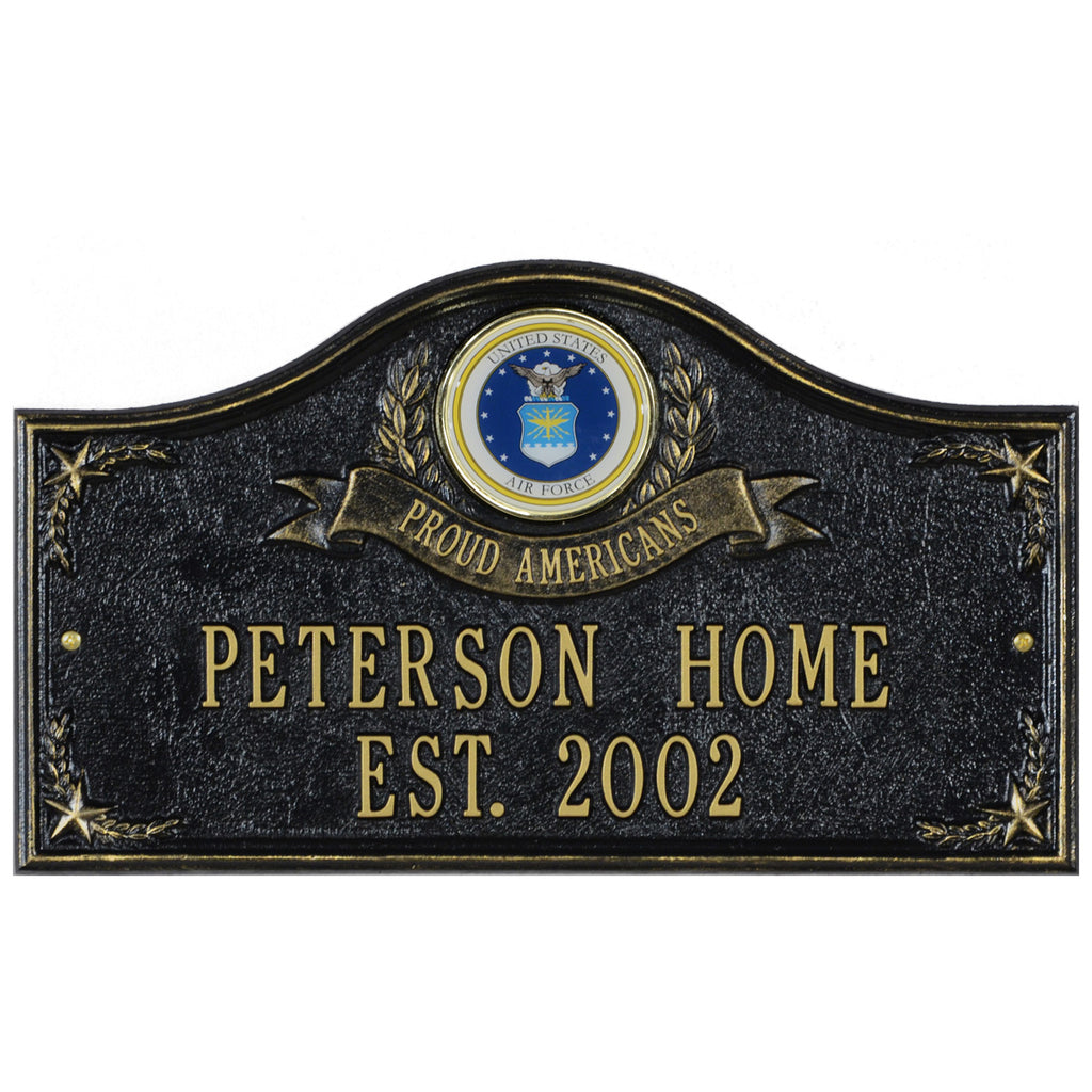 Air Force Gifts: Proud Americans Personalized Plaque