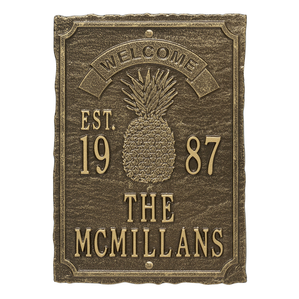 Antebellum Welcome Anniversary Plaque
