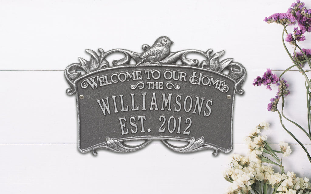 Songbird Welcome Anniversary Plaque