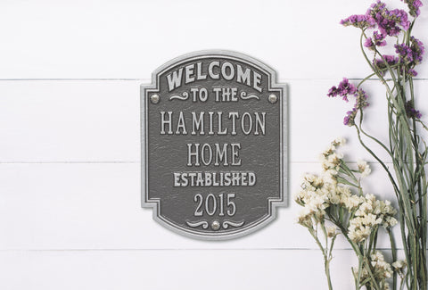 Date, Welcome & Anniversary Plaques