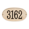 Stonework Oval House Numbers Plaque