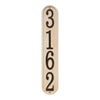 Stonework Vertical House Numbers Plaque