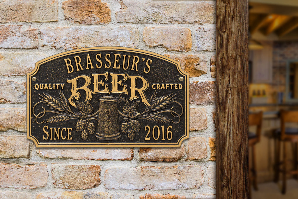 Quality Crafted Beer Date Plaque