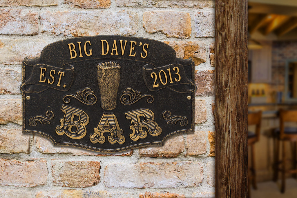 Date Established Bar Plaque