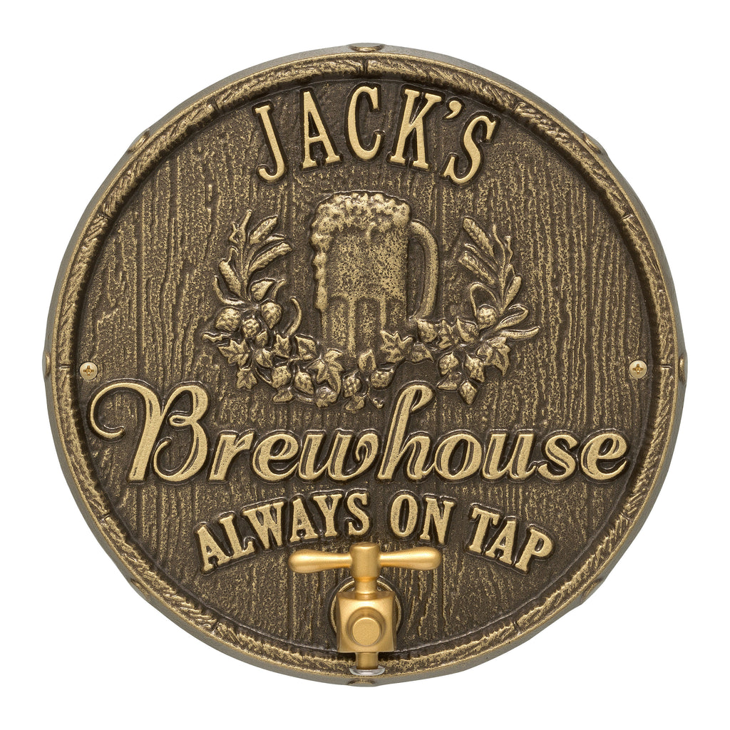 Oak Barrel Beer Pub Plaque