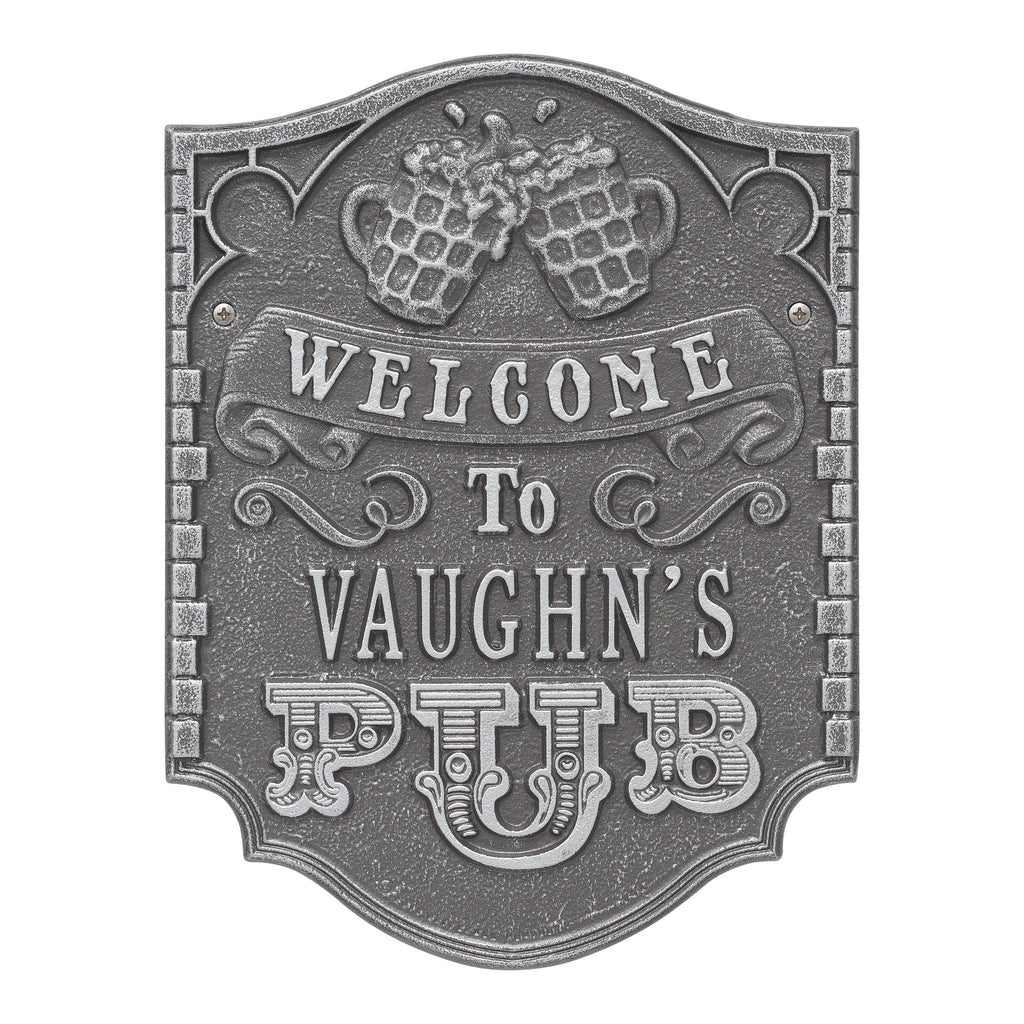 Pub Welcome Plaque