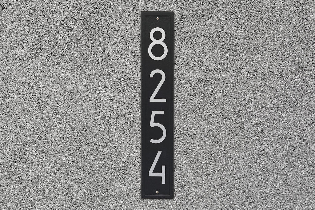 Modern Vertical Wall Plaque