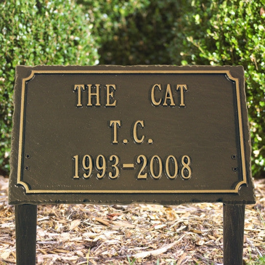 Slate Pet Memorial Plaque (Three Line)