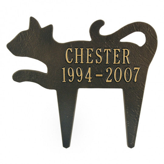 Cat Silhouette Memorial Marker