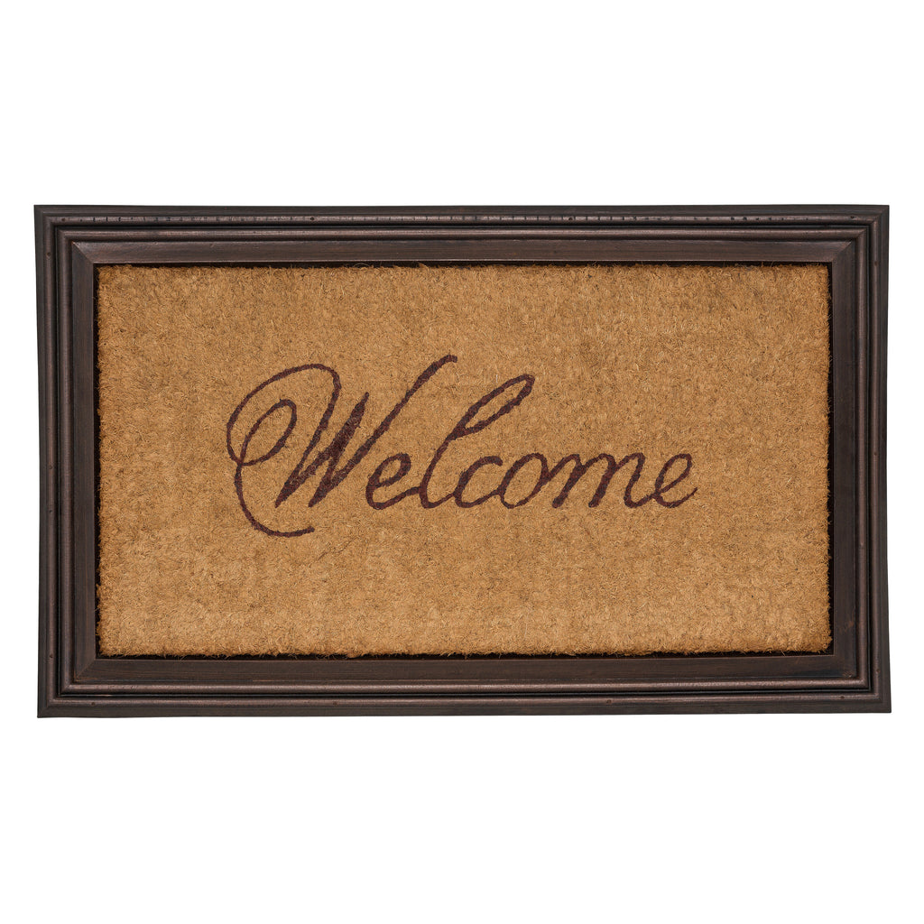 Whitehall Coir Knot Doormat Mat Personalized Cast: Welcome Mats By Whitehall Products