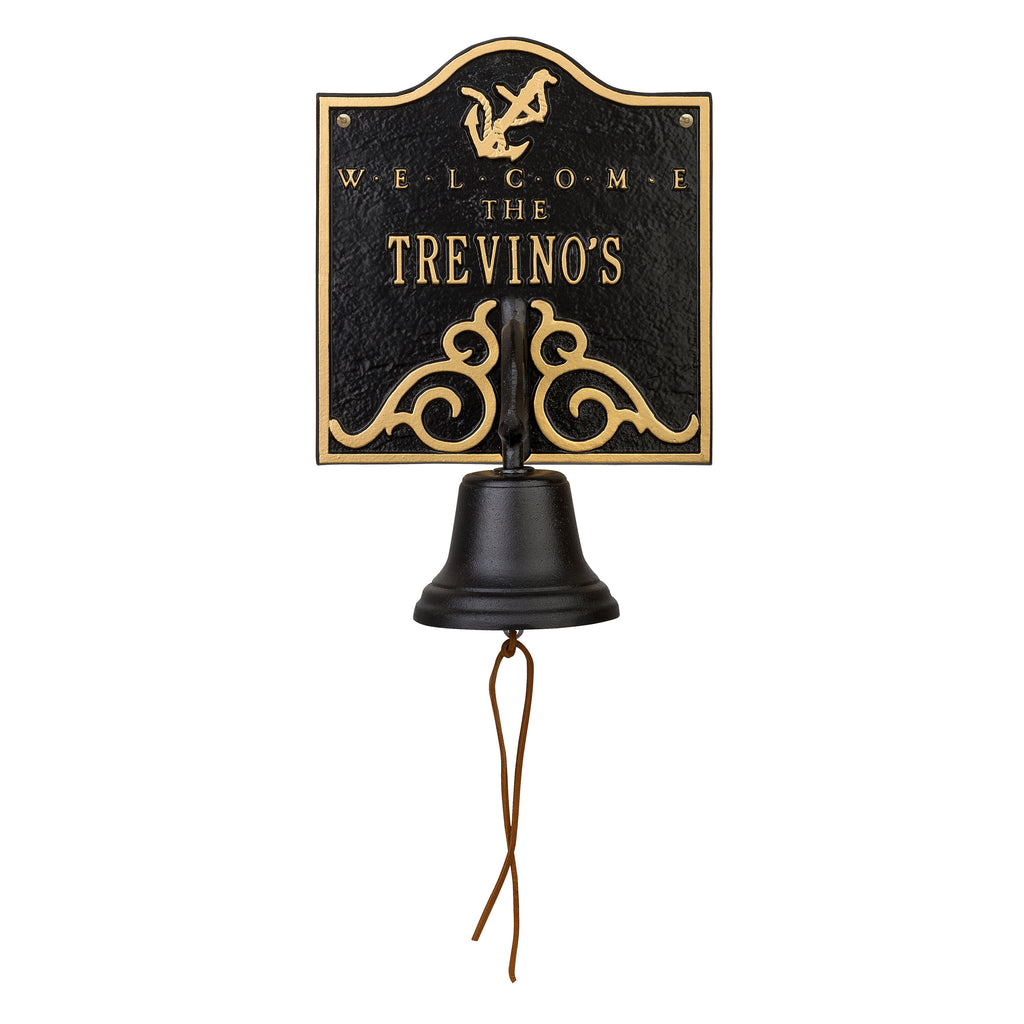 Country Dinner Bell Anchor Welcome Plaque