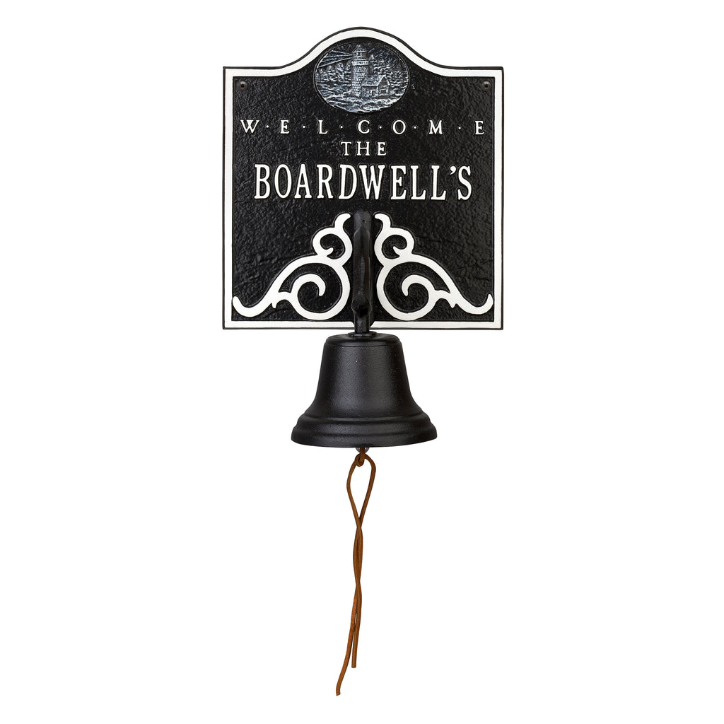 Country Dinner Bell Lighthouse Welcome Plaque