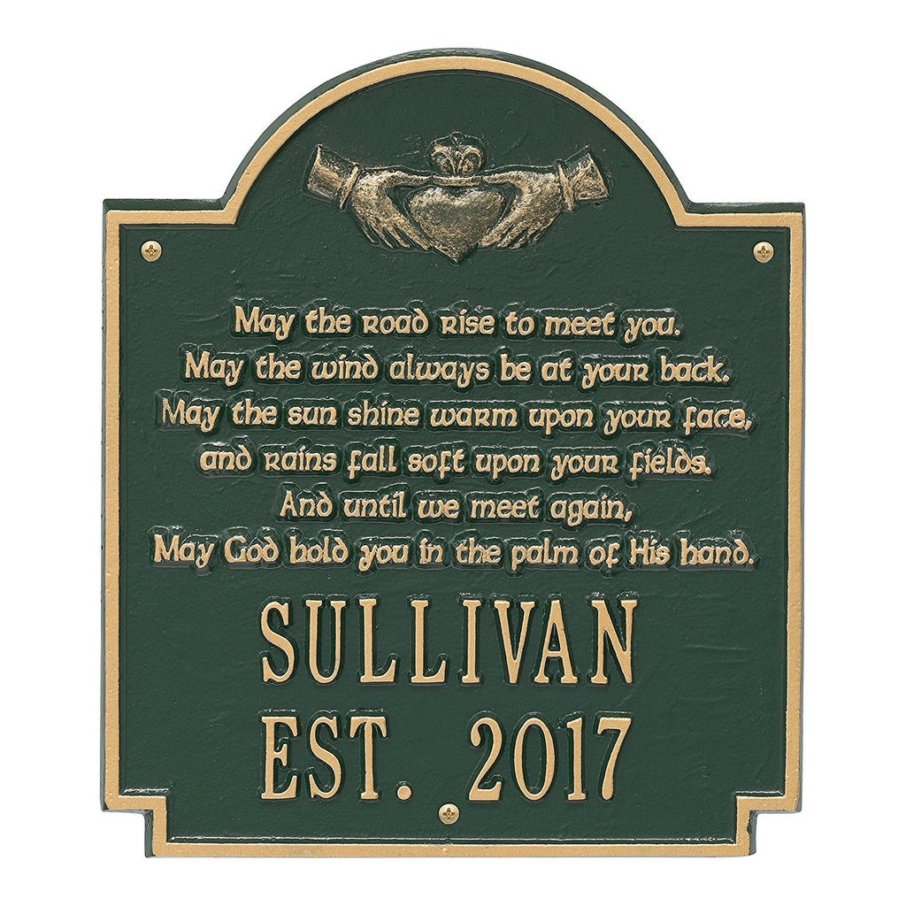 Claddagh Poem Wall Plaque