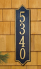 Norfolk Vertical Wall Address Plaque (Estate Size)