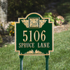 Monogram Lawn Address Plaque (Standard Size)